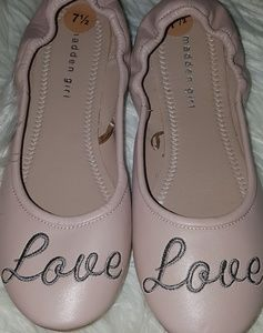 Madden girl fold ballet flats love shoe New